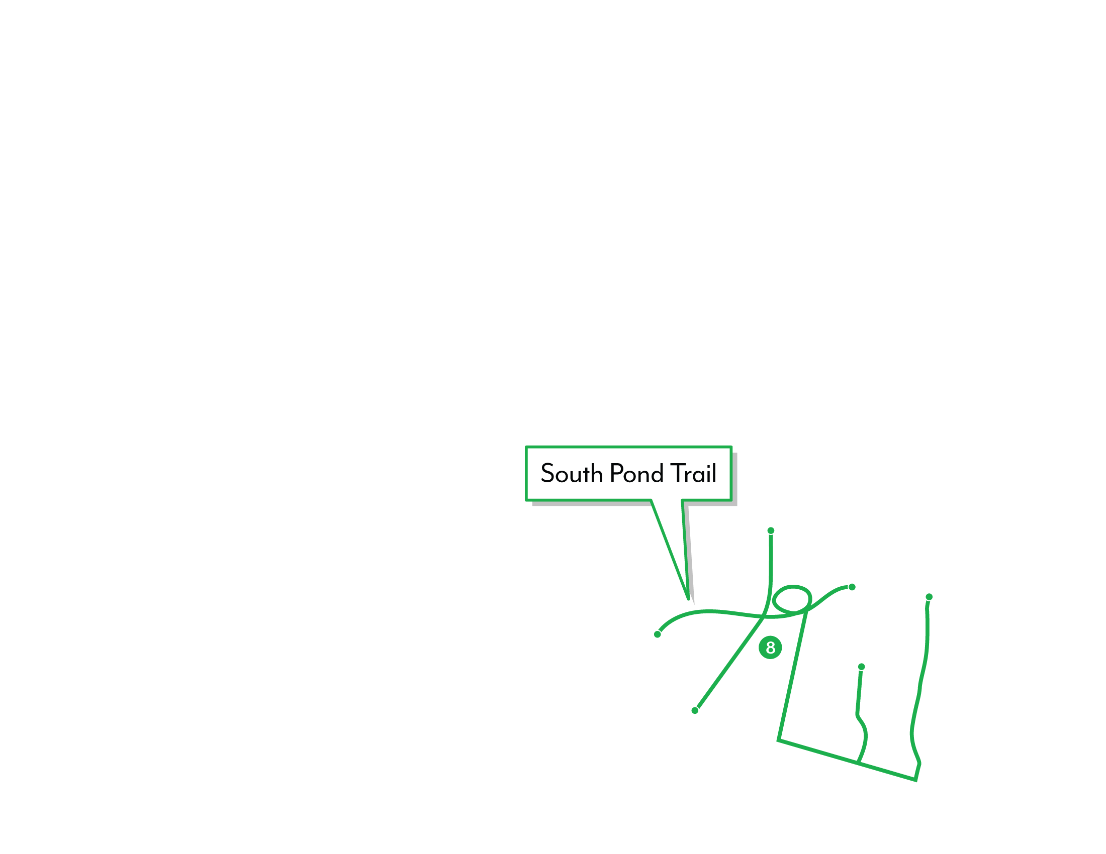 Shearwater graphic depicting the South Pond Trail