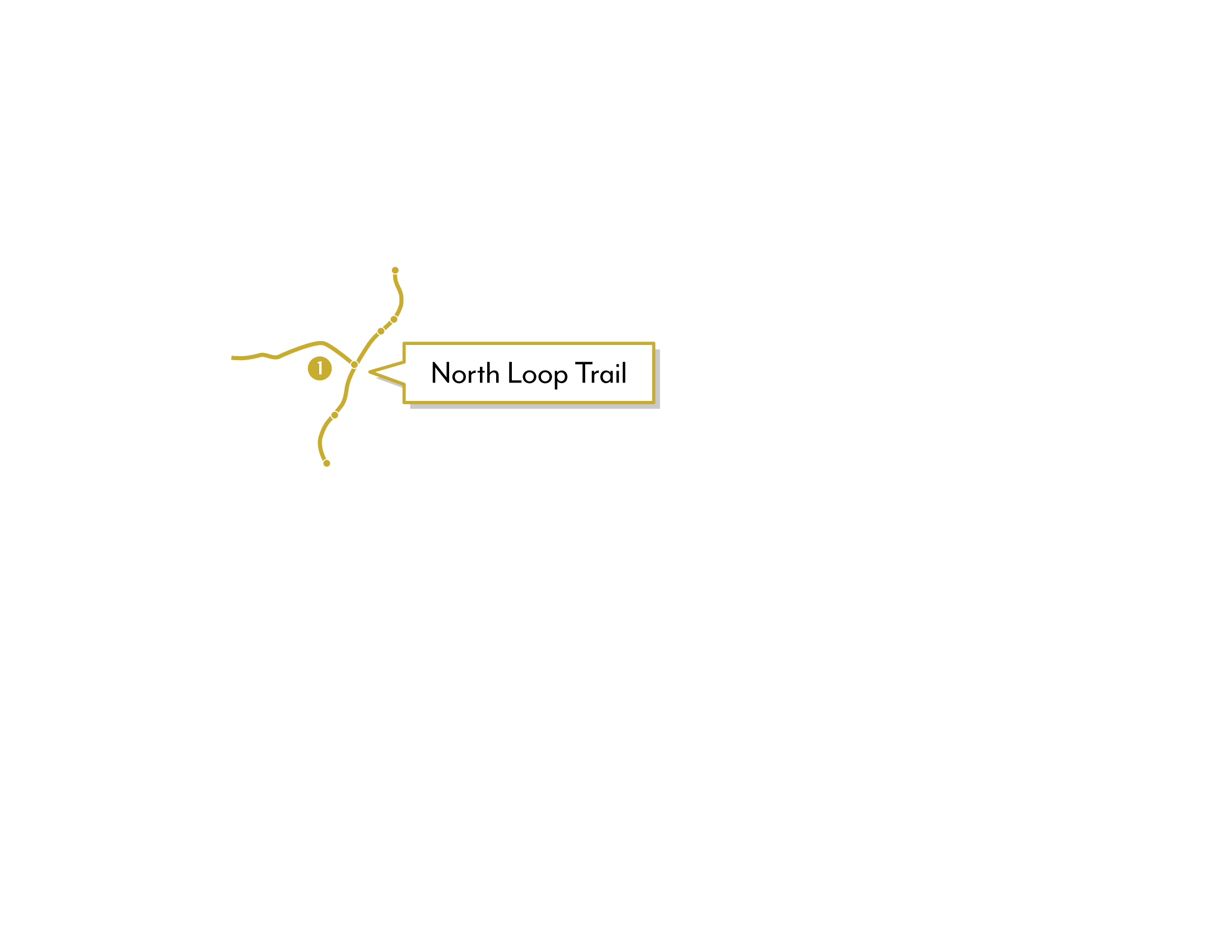 Shearwater graphic depicting North Loop Trail