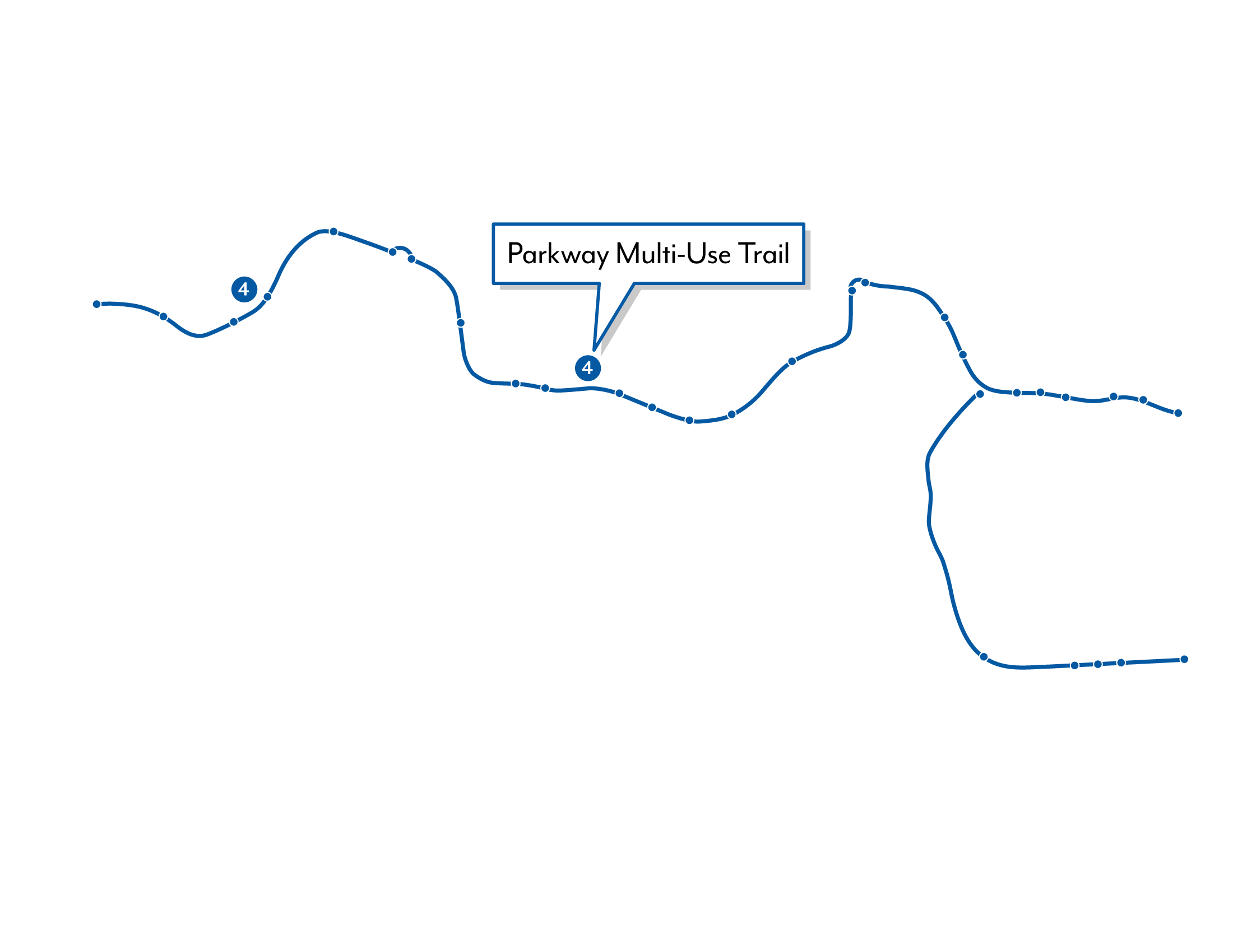 Shearwater graphic depicting the Parkway Multi-Use Trail